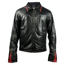 Hunter Motocross Iconic Fire Ring Racer Style Genuine Leather Jacket