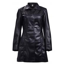 Altair Classic Leather Trench Coat