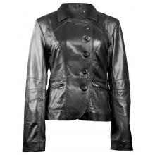 Kayla Classic Button Closure Party Wear Genuine Leather Jacket